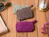 Éponges lavables tricotées