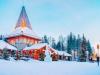 Snowman at Santa Office in Santa Claus Village in Rovaniemi