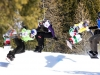 SBX World Cup Valmalenco, ITA - Race 1 - Finals - Heat 11 Men - Pierre Vaultier (FRA) in green, Alessandro Haemmerle (AUT) in black, Alberto Schiavon (ITA) in yellow, Joachim Havikhagen (NOR) in blue